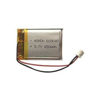 3.7V 650mAh 603040 Beauty LED lamp battery