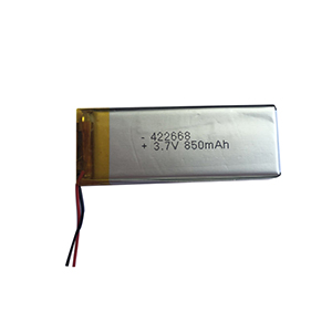 3.7V 850mAh 422668 heating cup battery