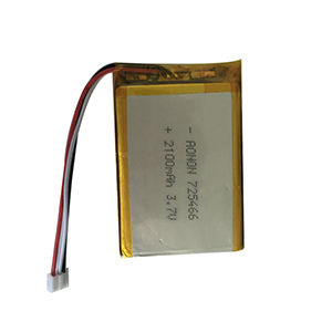 3.7V 2100mAh 725466 portable fax machine battery