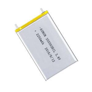 High voltage low temperature lithium polymer battery 355592HCL 2250mAh