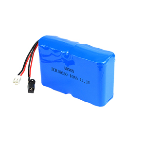 11.1V 10Ah 18650-3S4P police recorder battery