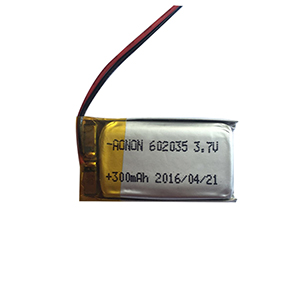 3.7V 602035-300mAh smart sensor lamp battery