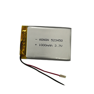 High temperature lithium polymer battery 523450-1000mAh